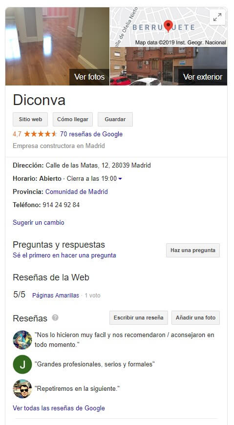 Diconva en Google Maps