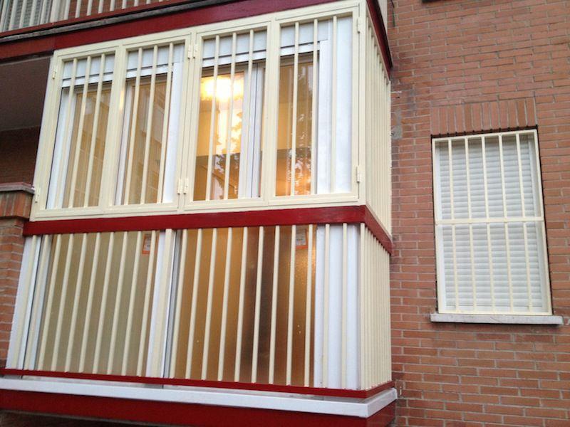 Detalle de reforma en terraza, para vivienda en Madrid.